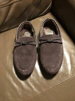 Ted Baker Seffel Mens Navy Modern Slippers Warm Comfortable Moccasin Style Shoes