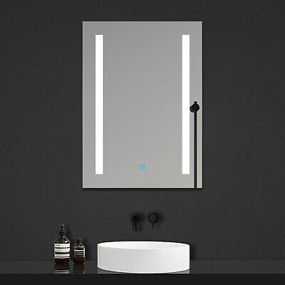 Sensitive Single Touch Control Cloakroom mirror without demister pad,Mains Power Connection Required 450x600mm Wall Mirror with Lights