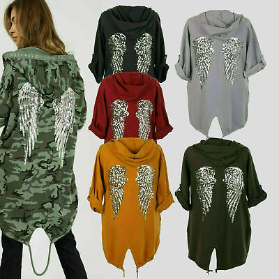 8-14 New Women Sequin Angel Wings Back Over-sized Cardigan BNWT One Size