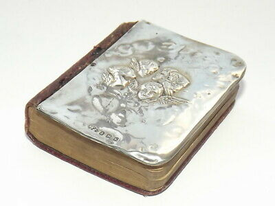 Edwardian Small Solid Silver Mounted Oxford Common Prayer Book, Birmingham 1909