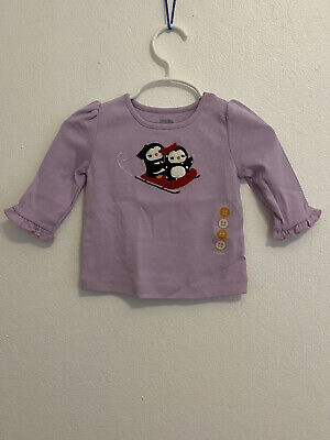 NWT Gymboree Girls Penguin Chalet Smitten With Daddy Tee Size 18-24M  3T