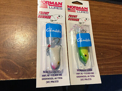 """Lot of 6 ~ Unfinished Bill Norman Front Runner 1/"""" Lure Top Water"""