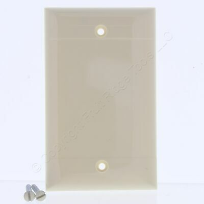 Ivory 1G UNBREAKABLE Blank Cover Box Mount Wallplates TP13-I 20 P/&S Trademaster