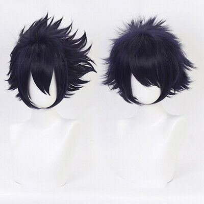 Anime Cartoon Characters Amajiki Tamaki Purple Wig Hair Fans Cosplay Exhibit AB