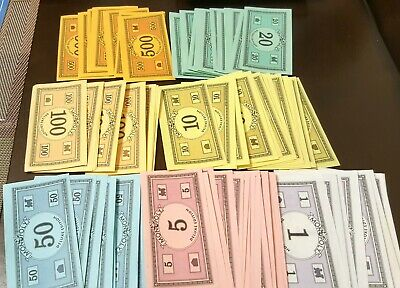 Original 1985 Monopoly Game Replacement Play Money 70 pcs