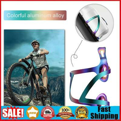 Aluminum Alloy Bicycle Water Bottle Holder Mountain Bike Kettle Cage Black #SO7