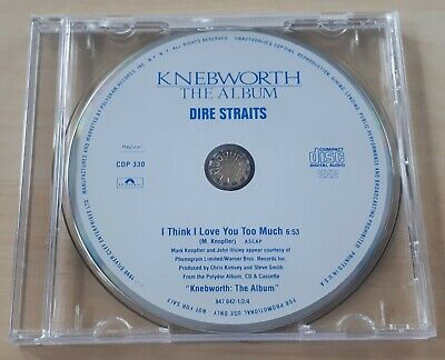 DIRE STRAITS I Think I Love You Too Much 1990 US 1-track