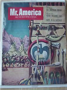 Joe Weider Mr America mag/Vol.1 #3/Indian cover 3-53