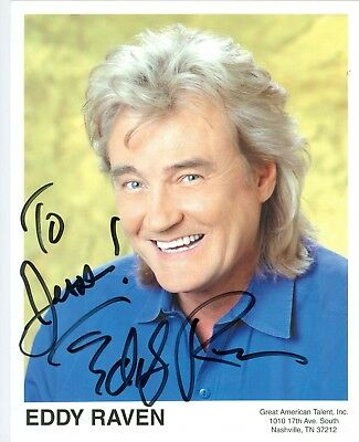 Eddy Raven autographed hand signed 8 x 10 color photo country music