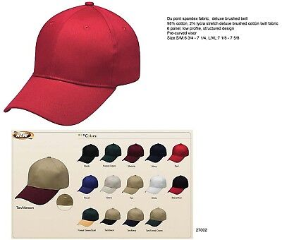 Wholesale Lot 48 Flex Stretch Baseball Caps Hat Fitted