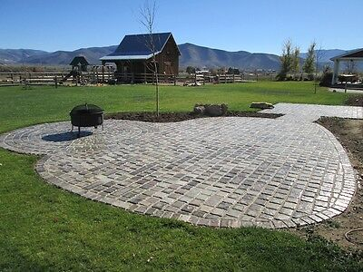 12 PAVER MOLDS MAKE 100s OF 6x6x1.5 CASTLE COBBLE STONE PAVERS FOR PENNIES EACH!
