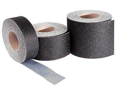 """6"""" Wide Safety Track Floor Surfacing Tape Roll - Black"""