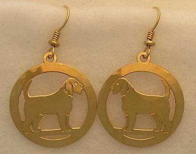 Otterhound  Gold Dangle Earrings by Touchstone