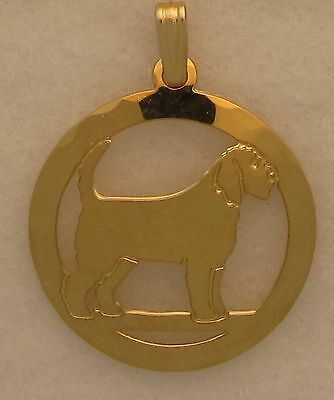 Otterhound  Gold Pendant