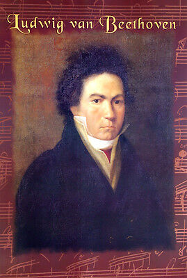 Beethoven•Oil Portrait by Christopher Heckel•German Composer•Art Poster 24x36