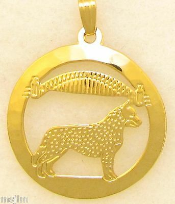 Australian Cattle Dog Jewelry Gold Pendant by Touchstone Dog Designs