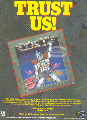 Y&T magazine PINUP ad IN ROCK WE TRUST metal 80's