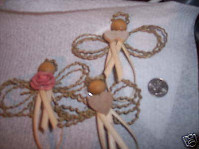 Medium Reed and Seagrass Angel ornament kit for 4