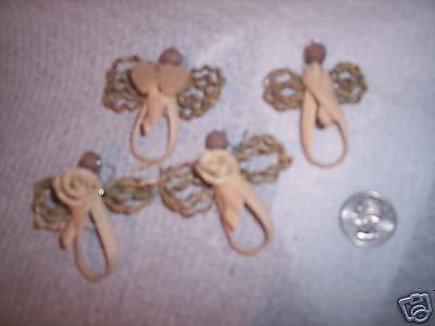 mini angel kit, pattern, materials for 10 angels w/rose