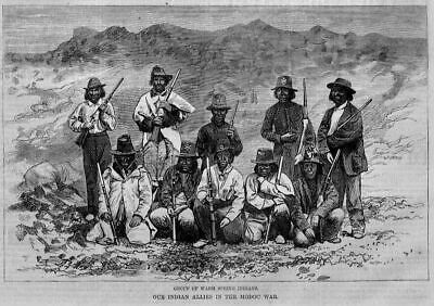 Modoc Indians 1873 Warm Spring Indians Allies In The Modoc Indian War History