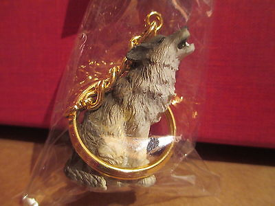 timber wolf key chain  great gift