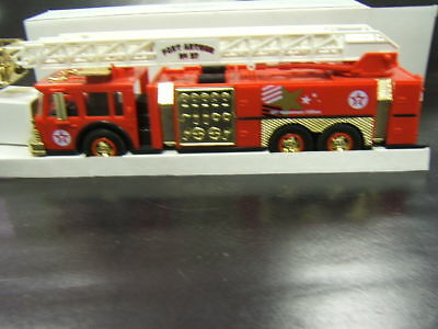 Texaco 1997 Aerial Tower Fire Truck Gold Serial Number