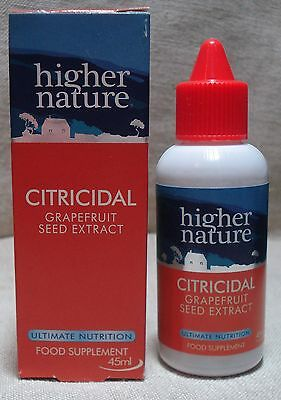 Higher Nature, Citricidal Grapefruit Seed Extract 45ml
