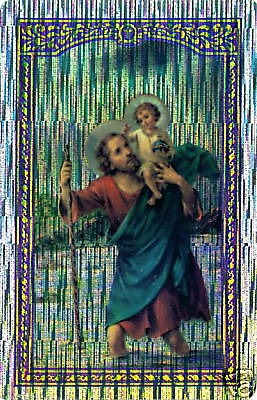 St. Christopher with Baby Jesus Sticker LOT NEW