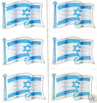 Israel ישראל Medinat Yisra'el FlagMini-Stickers LOT NEW