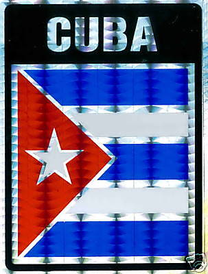 Cuba, República de Cuba Large Flag Stickers LOT NEW