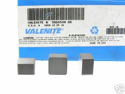 80 New Valenite Sng 454 Grade Q6 Ceramic Inserts P319S