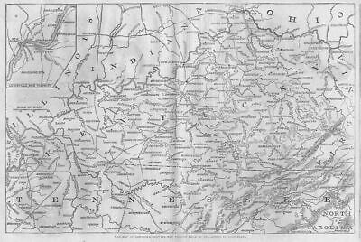 Kentucky 1862 Civil War Map Present Field Of Operations