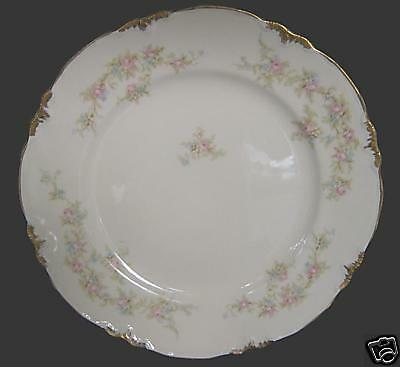 Smith Taylor TST 1696 Pink Blue Gold Floral Salad Plate