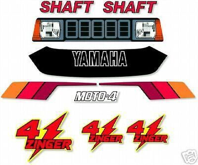ATV Graphics OEM Replacement Stickers For Yamaha YF 60 RED 4-Zinger 1986