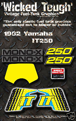 YAMAHA 1982 IT250 WICKED TOUGH DECAL GRAPHIC KIT