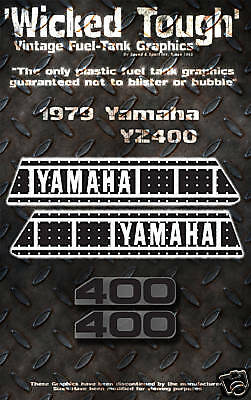 Yamaha 1979 Yz400 Wicked Tough Decal Graphic Kit