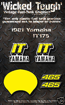 Yamaha 1981 It465 Wicked Tough Decal Graphic Kit