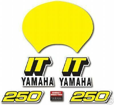 Yamaha 1981 It250 Complete Decal Graphic Kit Like Nos