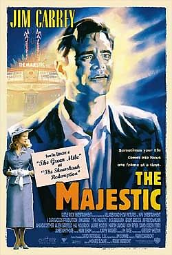 THE MAJESTIC- original 2-sided movie poster- JIM CARREY