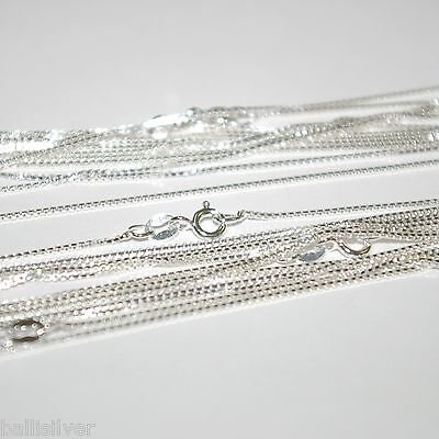"12 pcs Sterling Silver BOX 015 18"" Chains Wholesale Lot"