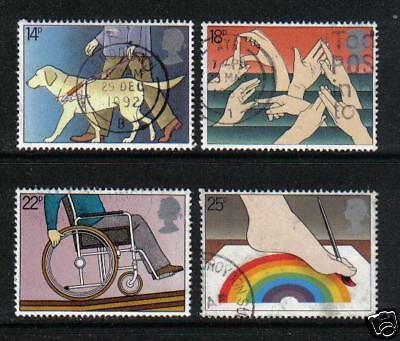 Great Britain 1981 Intl Year of Disabled (937-40) used