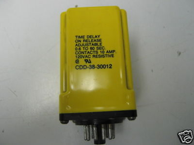 CDD-38-30012 RELAY 0.6-60SEC TIME DELAY RELAY 24VDC//10A POTTER/&BRUMFIELD