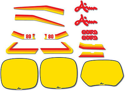 1982 Aim Enduro 80 Complete Decal Graphic Kit Like Nos