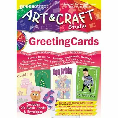 GREETING CARD MAKER - Birthday Christmas + 20 Cards PC