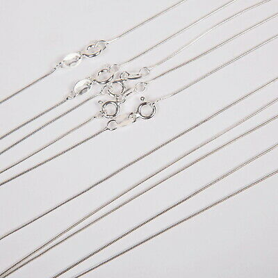 10 Sterling Silver SNAKE 015 Chain Necklaces Lot 18""