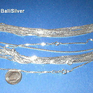 "6 Sterling Silver thick BOX 028 20"" CHAIN Necklaces Lot"
