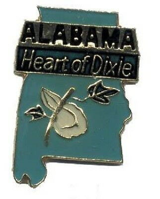 Hat Lapel Push Pin Tie Tac State of Alabama NEW