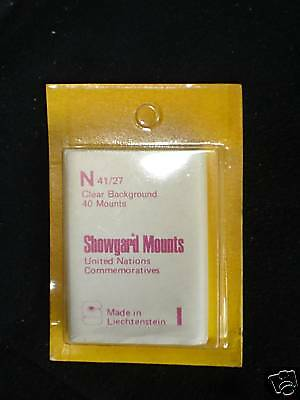 Showgard Clear Stamp Mounts N 41/27 40 pieces (m16)