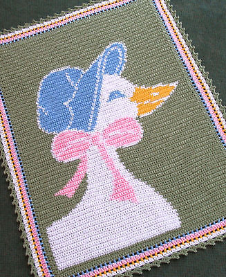Crochet Patterns - MOTHER GOOSE baby afghan pattern
