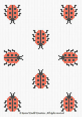 Crochet Patterns - LADYBUGS Baby Color Graph/Chart afghan pattern